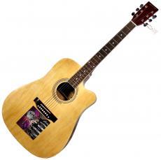 Blues Traveler Full Band X5 Signed CD Cover Acoustic Guitar UACC RD COA AFTAL