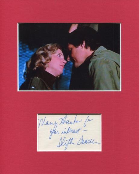 Blythe Danner MASH  Lt. Breslin Signed Autograph Photo Display With Alan Alda
