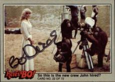 Bo Derek  Actress Tarzan 10  Signed Trading Card 1981 Heres Bo! #22 Id #32254