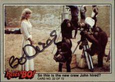 Bo Derek  Actress Tarzan 10  Signed Trading Card 1981 Heres Bo! #22 Id #32254