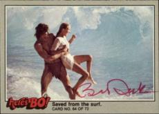 Bo Derek  Actress Tarzan 10  Signed Trading Card 1981 Heres Bo! #64 Id #32247