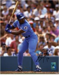 "Bo Jackson Kansas City Royals Autographed 8"" x 10"" At Bat Photograph"
