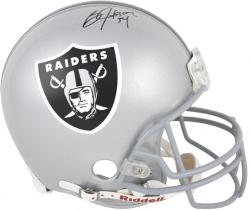 Oakland Raiders Bo Jackson Autographed Pro-Line Riddell Authentic Helmet - Mounted Memories