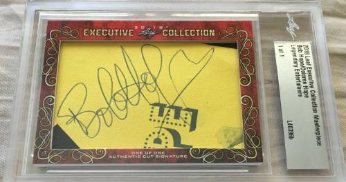 Bob Hope & Delores 2018 Leaf Masterpiece Cut Signature auto signed card 1/1 JSA