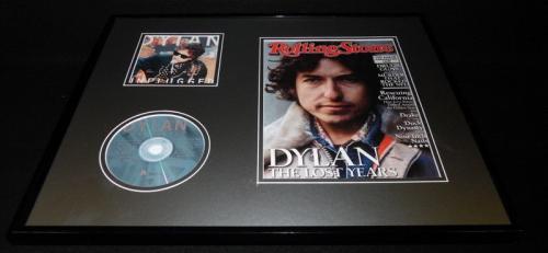 Bob Dylan 16x20 Framed 2013 Rolling Stone Magazine & Unplugged CD Set