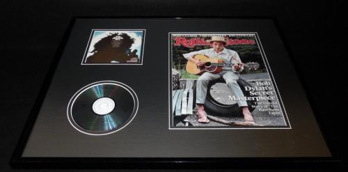 Bob Dylan 16x20 Framed 2014 Rolling Stone Magazine & Greatest Hits CD Set