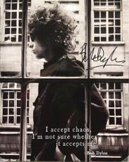 Bob Dylan Autographed Facsimile Signed Accepting Chaos Poster