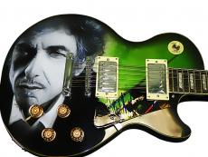 Bob Dylan Autographed Signed Airbrushed 12 String Guitar Psa/Dna AFTAL