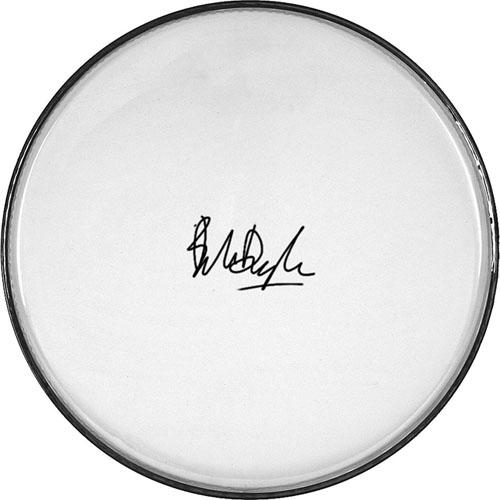 Bob Dylan Autographed Facsimile Signed Clear Drumhead