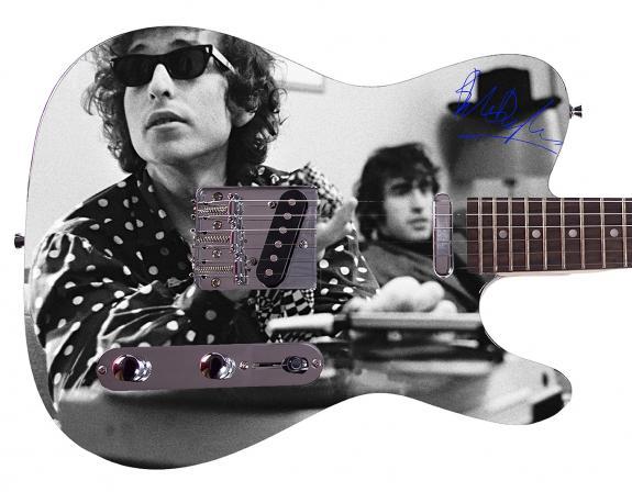 Bob Dylan Autographed Signed Custom Graphics Guitar