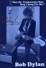 Bob Dylan Autographed Facsimile Signed Mr.Tambourine Man Poster