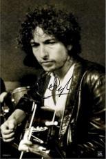 Bob Dylan Autographed Facsimile Signed Protrait Poster