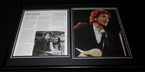 Bob Dylan Framed 12x18 Photo Display