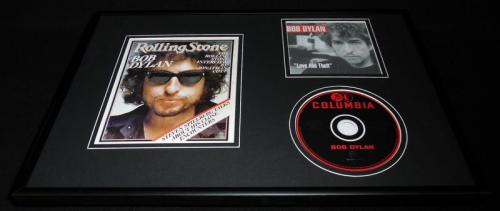 Bob Dylan Framed 12x18 Rolling Stone Cover & Love & Theft CD Display