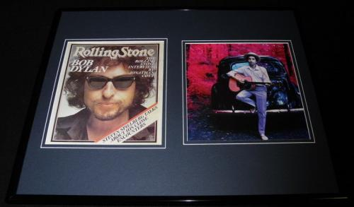 Bob Dylan Framed 16x20 Rolling Stone Cover & Photo Display