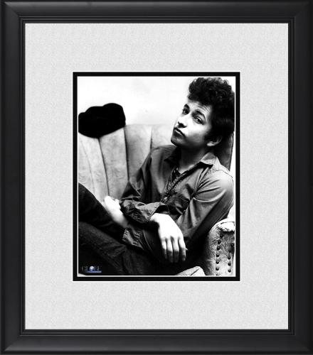 """Bob Dylan Framed 8"""" x 10"""" Seated in Chair Photograph"""