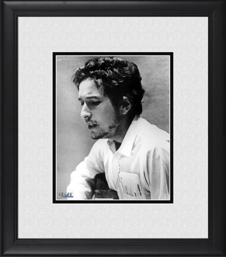 "Bob Dylan Framed 8"" x 10"" Singing & Playing Guitar Photograph"
