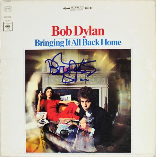 Bob Dylan Signed Bring It All Back Home Album Cover Auto Graded 10! BAS #A72916