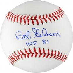 Bob Gibson Autographed Baseball HOF 81 Inscription