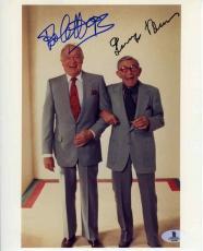 Bob Hope and George Burns Autographed Signed 8x10 Vintage Photo Beckett BAS COA