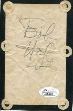 Bob Hope Autographed 3x5 Card (JSA)