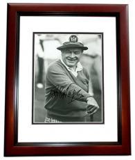 Bob Hope Signed - Autographed B+W 8x10 inch Photo - Deceased 2003 - MAHOGANY CUSTOM FRAME - Guaranteed to pass PSA or JSA