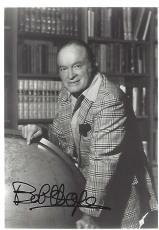BOB HOPE - (COMEDIAN/ACTOR/SINGER) 57 USO TOURS and was in Over 70 FILMS - Passed Away 2003 - Signed 5x7 B/W Photo
