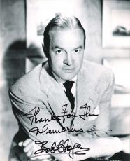 BOB HOPE - (COMEDIAN/ACTOR/SINGER) 57 USO TOURS and was in Over 70 FILMS - Passed Away 2003 - Signed 8x10 B/W Photo