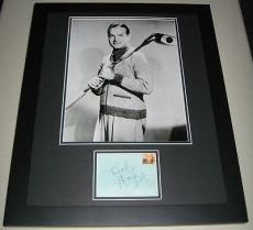 Bob Hope GOLF Signed Framed 16x20 Poster Photo Display JSA