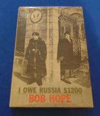 "Bob Hope ""i Owe Russia $1200"" Signed Auto Hardcover Book - Jsa Cert #k94220"
