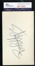 Bob Hope Jsa Coa Hand Signed 3x5 Index Card Authenticated Autograph