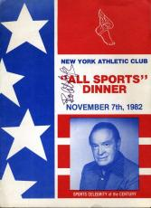 Bob Hope Jsa Signed Program Authentic Autograph