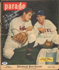 Bob Hope Signed 1947 Parade Picture Magazine Baseball Cover PSA/DNA COA Auto'd