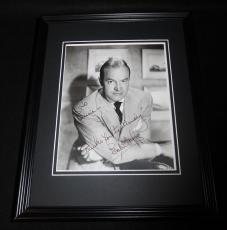 Bob Hope Signed Framed Vintage 8x10 Photo JSA