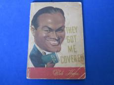 BOB HOPE SIGNED SOFTCOVER BOOK ~ They Got me Covered ~ JSA K94224 ~ Creases
