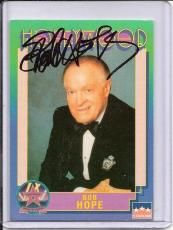Bob Hope Signed Starline Hollywood card