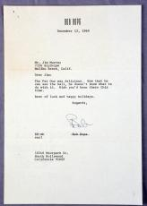 Bob Hope Signed Typed Letter