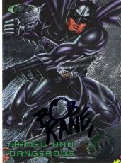 "BOB KANE - COMIC BOOK ARTIST and WRITER - CREATOR of DC COMICS SUPERHERO ""BATMAN"" Passed Away 1998 - Signed 1995 DC COMIC CARD"