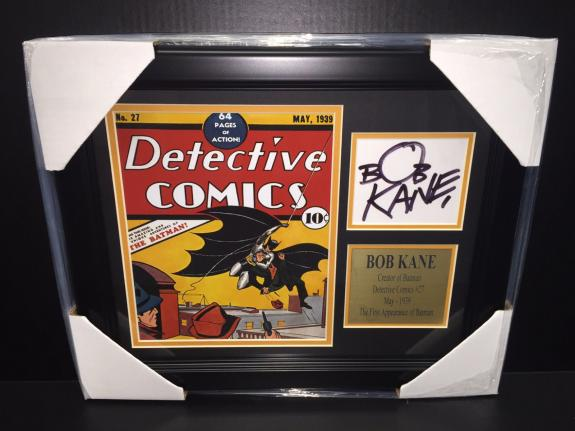Bob Kane Signature Reprint Dc Detective Comics #27 Batman Framed 8x10 Photo