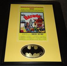 Bob Kane Signed Framed 18x24 Batman '66 Poster Photo Display