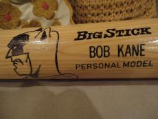 Bob Kane Signed Full Size Baseball Bat   With Amazing Batman Sketch   Jsa Letter