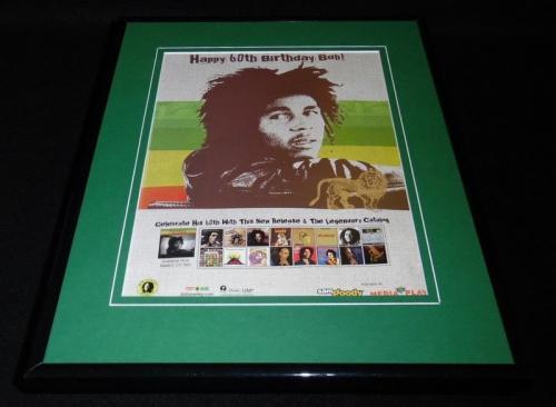 Bob Marley 2005 60th Anniversary Framed 11x14 ORIGINAL Vintage Advertisement