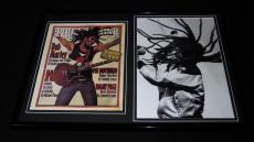 Bob Marley Framed 12x18 Photo & Rolling Stone Cover Display