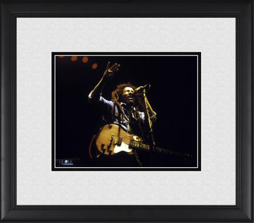 "Bob Marley Framed 8"" x 10"" Performing Arm Up Photograph"