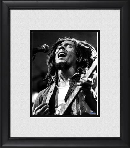 "Bob Marley Framed 8"" x 10"" Performing in Central Park Photograph"