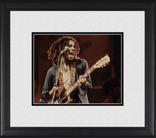 "Bob Marley Framed 8"" x 10"" Red Background Photograph"