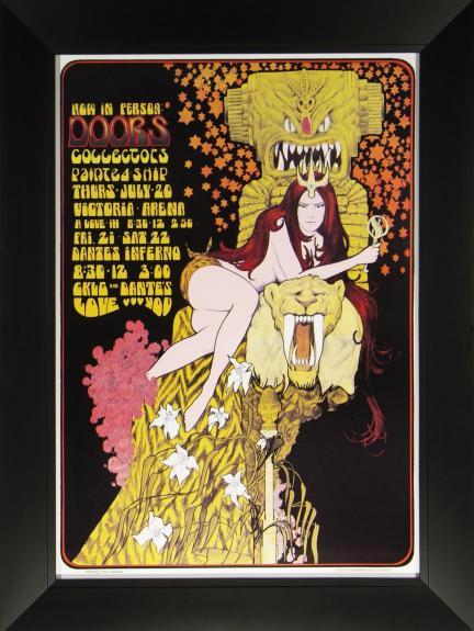 Bob Masse – The Doors Concert Poster Framed 21×29