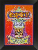 Bob Masse - Woodstock 1969 Concert Poster Framed