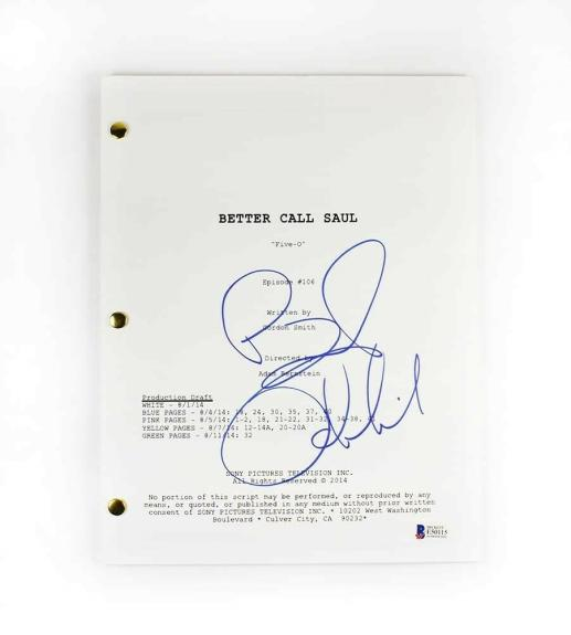 Bob Odenkirk Better Call Saul Autographed Signed Script Authentic BAS COA