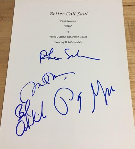 """Bob Odenkirk & Cast Signed Autograph """"better Call Saul"""" Full Pilot Script +4"""